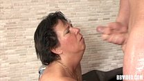 Mature german whore gets facialized in jacuzzi