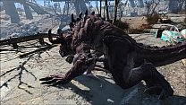Fallout 4 Katsu and the Deathclaw