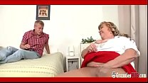 SSBBW Granny With Huge Boobs Satisfies A Young Guy - 69VClub.Com