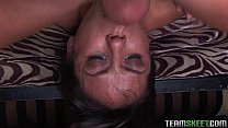 Brunette Nadia Styles facialized after c. on a huge cock