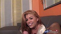 Schwanzspiele mit Amanda Jane bei einem Fan zu Hause