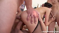 NoRestForTheAss, Lina Arian first DP with gapes, 3 swallow, ball deep anal fucking GIO041