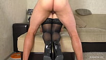 Thigh Fuck Step Sister with Big Ass in Stockings - Cum Ass