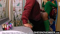 Get Off The Toilet Bitch And Give Step Dad This Pussy Now! Cute Petite Black Step Daughter Msnovember Big Booty Cornered By Abusive Step Dad on Sheisnovember 4k صورة