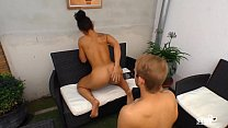 SEXTAPE GERMANY - Brunette German babe opens her pussy for her first sex tape