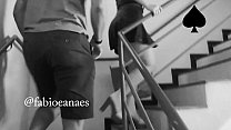 Black man lifting my naughty hotwife's skirt up the stairs of the motel she had no panties on.