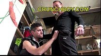 Young twink straight has to suck and fuck his boss friend