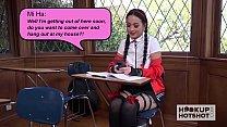 Asian Schoolgirl Rough Hook Up With Guy She Met...