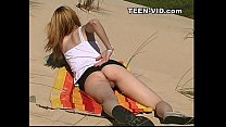teen nudist at beach porn image
