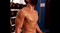 hot male wet with sweat