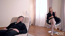 Horny Psychologist Seduces Foot Fetish Lover into Hot Fuck thumbnail