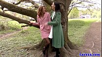 Classy mature brit queened by posh babe video