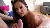 POV dirty talk and handjob with a latina wife - Francesca Le and Mark Wood thumbnail
