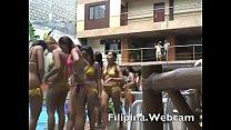Asianwebcamgirls.net shower then bikini party in Manila Hotel pool