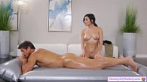 Teen gives her stepdad full nuru massage pornhub video