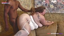 when her husband leaves this bbw mom loves to take all of Mr. Stixxx black cock