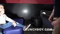 the straight curious APOLO ADRII fucking raw BOny babyron at Boyberry Cruising madrid for Crunchboy