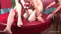 13054 Cougar francaise sodomisee et prise en double penetration pour son casting porno preview