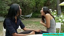Asian stepmom and stepteen sucking cock
