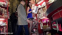 Jeny Smith - naked sales girl meet customers in a sex shop thumbnail