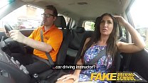 Fake Driving School Posh cheating wife with great tits has loud orgasms Image