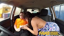 Fake Driving School Posh cheating wife with great tits has loud orgasms صورة