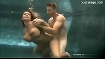 Big boobs under water