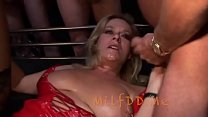 Busty Milf can't escape this Orgy - MilfddMe