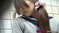 Uniformed japanese babe