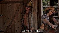 HD FantasyHD - Cowgirl Dani Daniels rides dick at the farm Vorschaubild