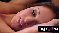 Big boobed brunette beauty Chelsea loves sexy lingeries and nude training