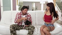Step daughter makes sextape with her Dad - Gina Valentina and Tommy Gunn صورة