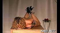 Lusty maiden is ly drilling her wet cuchy