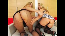 Ass Traffic Two blondes get butt-fucked and facialed with hot cum