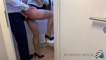 fucked by boss on the office restroom, Business...