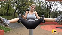 Jump and Running naked in Public Park by Katerina-Hartlova