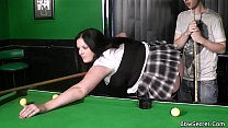Cheating with BBW in fishnets on pool table pornhub video