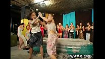 Half exposed lesbians getting all messy in slutty amateurs show thumbnail
