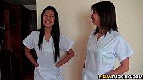 Asian Nurses Share A White Dick pornhub video