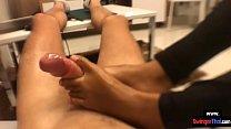 Amateur homemade Asian girlfriend footjob fetish video