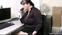 Office sex with busty secretary in stocking thumbnail