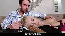 Ryan Keely feeding her stepson with her tight milf pussy and moans in delight