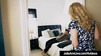 Step Mommy Julia Ann Opens Mouth For Step Son's Cum! Preview