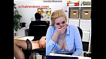 Pussy Play will she get caught by the boss?  - xchatreviews.com porn thumbnail