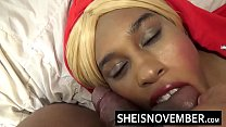 HD Big Mouth Open Blonde Babe Cumshot Explosion Over Cute Ebony Face And Intense Blowjob Facial Msnovember صورة