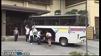 Japanese teacher wants fuck on the college bus