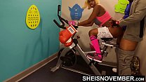 I Train My Buddy Curious Daughter How To Be A Woman On Gym Bike, Introduced Msnovember Young Ebony Vagina To Hung Old Dick, Her Huge Natural Boobs & Nipples Bouncing Reality on Sheisnovember صورة