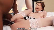 BBCPIE White Maid Stuffed With Multiple Interra...