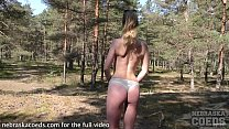 forest fling inflatable dildo with young 18 year old model lucky camera guy