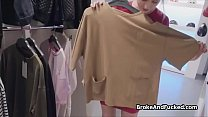 Sexy shop assistant blows for extra cash - fuck girls thumbnail